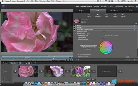Скриншот программы Adobe Premiere Elements для Windows 8.1