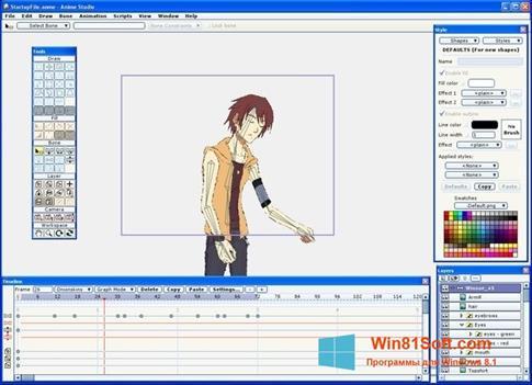Скриншот программы Anime Studio для Windows 8.1