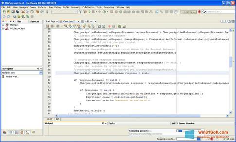 Скриншот программы NetBeans для Windows 8.1