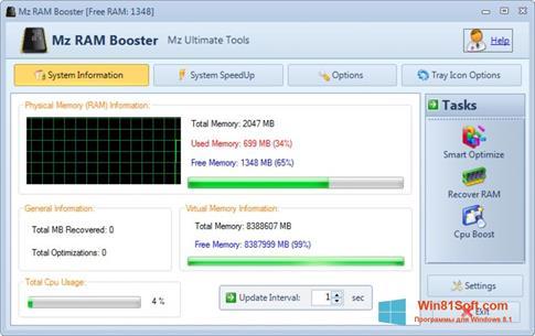 Скриншот программы CpuBoost для Windows 8.1