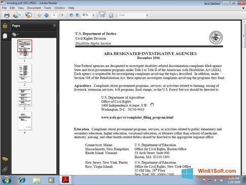 Скриншот программы Adobe Reader для Windows 8.1