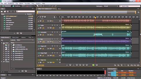 Скриншот программы Adobe Audition CC для Windows 8.1