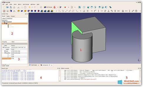 Скриншот программы FreeCAD для Windows 8.1