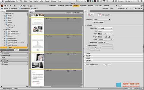 Скриншот программы PDF Combine для Windows 8.1