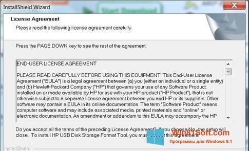 Скриншот программы HP USB Disk Storage Format Tool для Windows 8.1