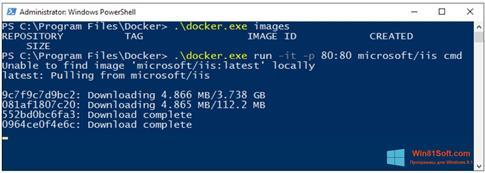 Скриншот программы Windows PowerShell для Windows 8.1