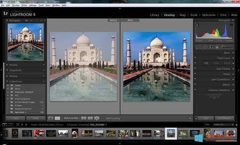 Скриншот программы Adobe Photoshop Lightroom для Windows 8.1