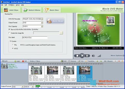 Скриншот программы DVD Maker для Windows 8.1