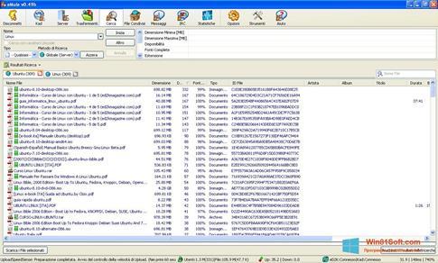 Скриншот программы eMule для Windows 8.1
