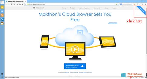 Скриншот программы Maxthon для Windows 8.1