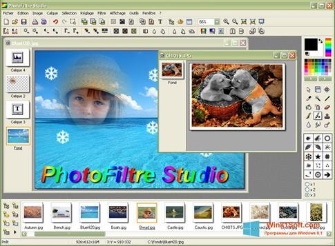Скриншот программы PhotoFiltre для Windows 8.1
