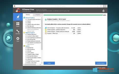Скриншот программы CCleaner для Windows 8.1
