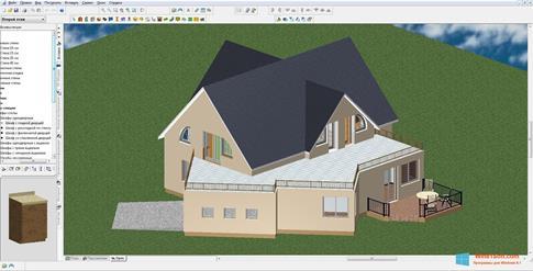 Скриншот программы FloorPlan 3D для Windows 8.1