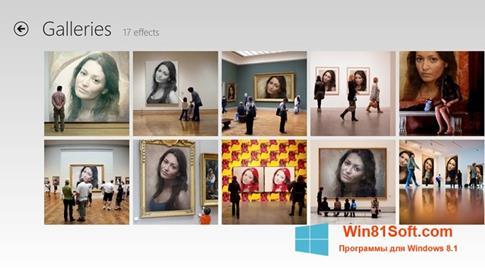 Скриншот программы PhotoFunia для Windows 8.1
