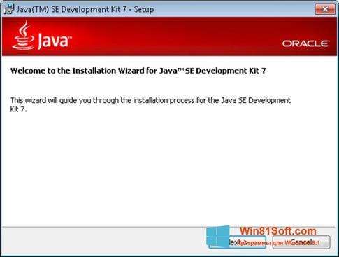 Скриншот программы Java Development Kit для Windows 8.1
