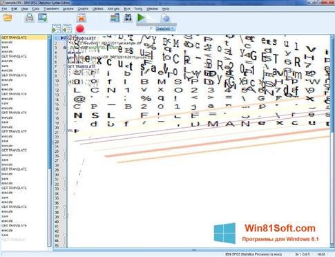 Скриншот программы SPSS для Windows 8.1