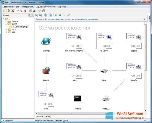 Скриншот программы Remote Manipulator System для Windows 8.1