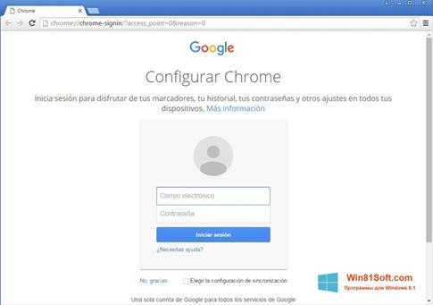 Скриншот программы Google Chrome Canary для Windows 8.1