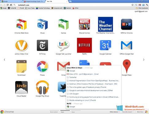 Скриншот программы Google Chrome Offline Installer для Windows 8.1