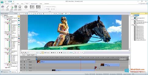 Скриншот программы VSDC Free Video Editor для Windows 8.1