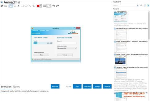 Скриншот программы AeroAdmin для Windows 8.1