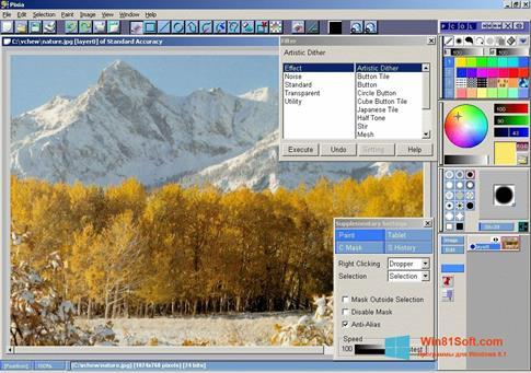 Скриншот программы Pixia для Windows 8.1