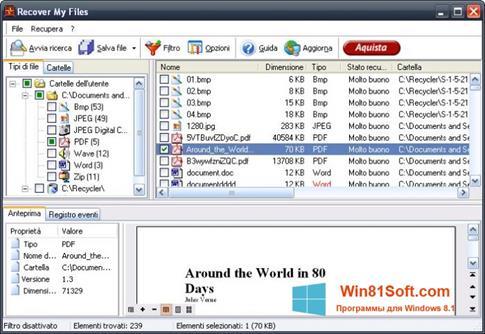 Скриншот программы Recover My Files для Windows 8.1