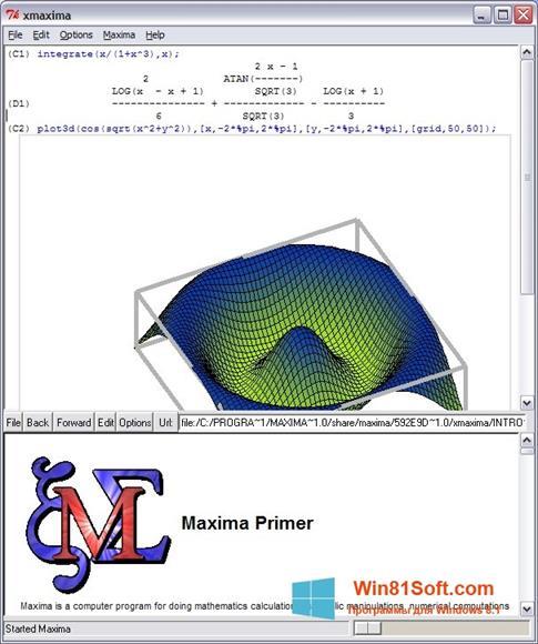 Скриншот программы Maxima для Windows 8.1