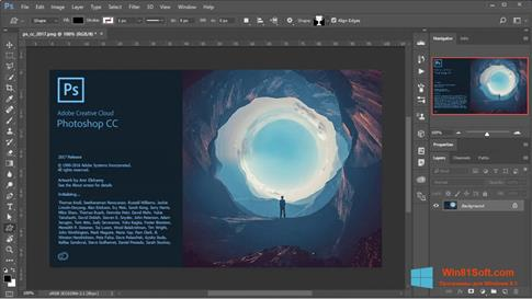 Скриншот программы Adobe Photoshop для Windows 8.1