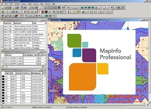 Скриншот программы MapInfo Professional для Windows 8.1