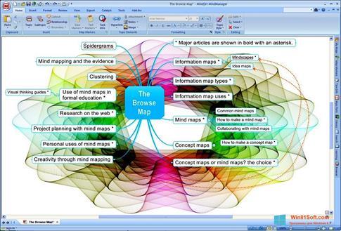 Скриншот программы MindManager для Windows 8.1
