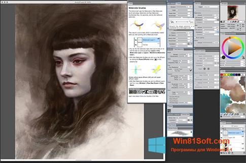 Скриншот программы Corel Painter для Windows 8.1