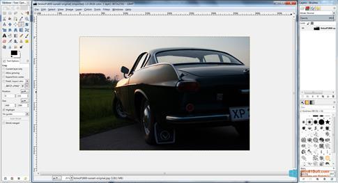 Скриншот программы GIMP для Windows 8.1