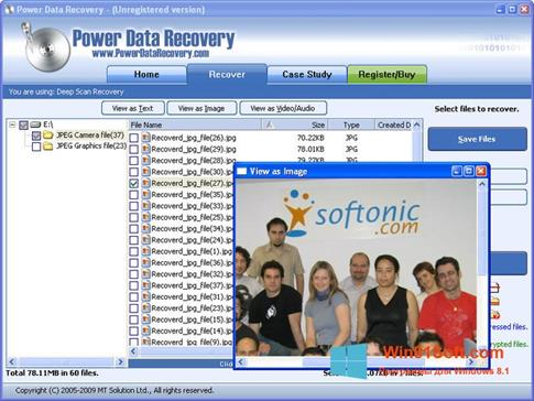 Скриншот программы Power Data Recovery для Windows 8.1