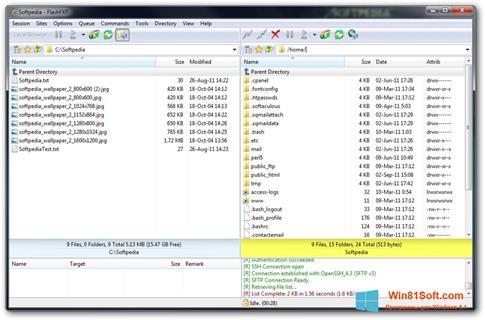 Скриншот программы FlashFXP для Windows 8.1