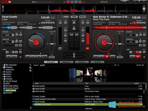 Скриншот программы Virtual DJ Pro для Windows 8.1