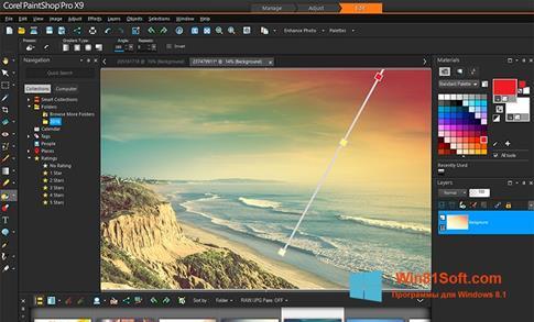 Скриншот программы PaintShop Pro для Windows 8.1
