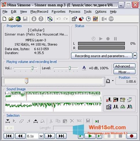 Скриншот программы Total Recorder для Windows 8.1