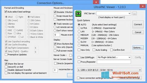 Скриншот программы UltraVNC для Windows 8.1