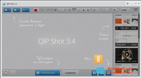 Скриншот программы QIP Shot для Windows 8.1