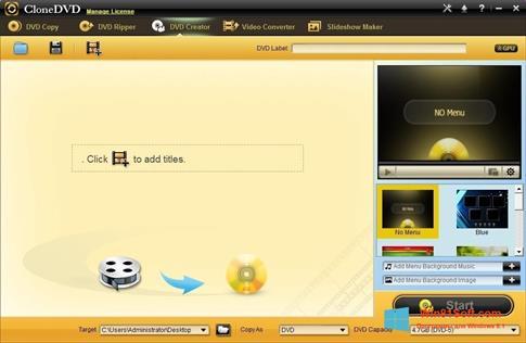 Скриншот программы CloneDVD для Windows 8.1