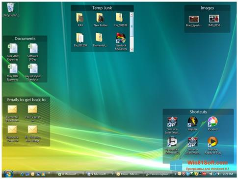 Скриншот программы Fences для Windows 8.1