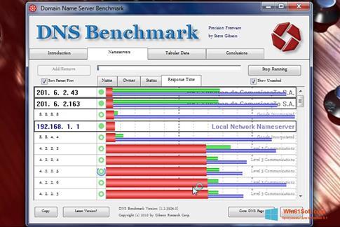 Скриншот программы DNS Benchmark для Windows 8.1