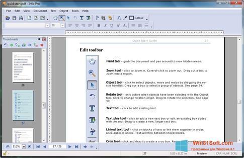 Скриншот программы Infix PDF Editor для Windows 8.1