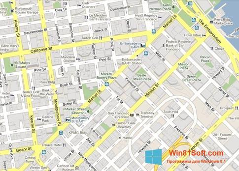 Скриншот программы Google Maps для Windows 8.1