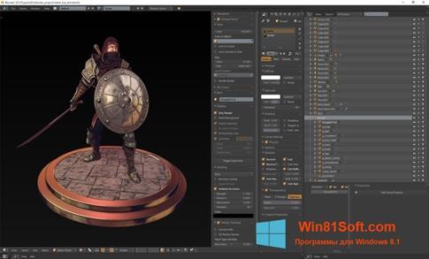 Скриншот программы Blender для Windows 8.1