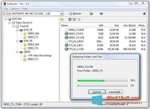 Скриншот программы IsoBuster для Windows 8.1
