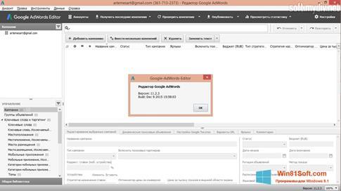 Скриншот программы AdWords Editor для Windows 8.1