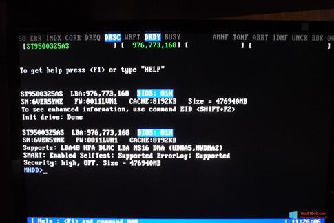 Скриншот программы MHDD для Windows 8.1