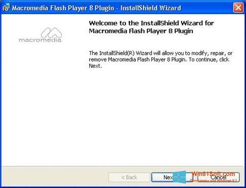 Скриншот программы Macromedia Flash Player для Windows 8.1